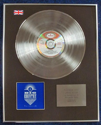 BIG COUNTRY - Limited Edition CD Platinum Disc - THE CROSSING