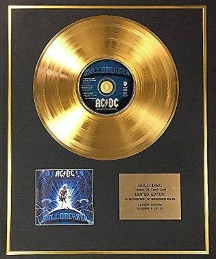 AC/DC - Exclusive Limited Edition 24 Carat Gold Disc - Ballbreaker