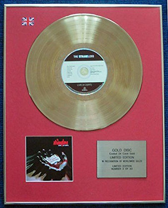 The Stranglers - Limited Edition CD 24 Carat Gold Coated LP Disc - Live (X Cert)