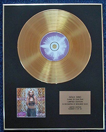 Britney Spears - LTD Edition CD 24 Carat Gold Coated LP Disc - Oops I Did It�
