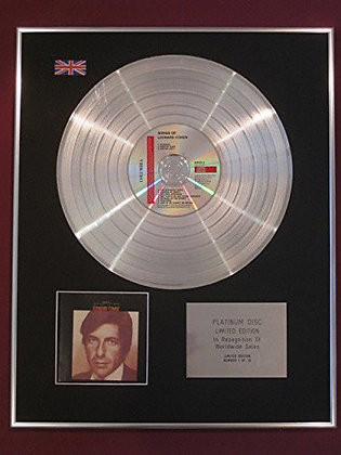 LEONARD COHEN -  Platinum Disc - SONGS OF LEONARD COHEN