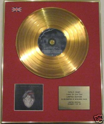 ALICE IN CHAINS-Ltd Edtn CD Gold Disc- BLACK GIVES WAY