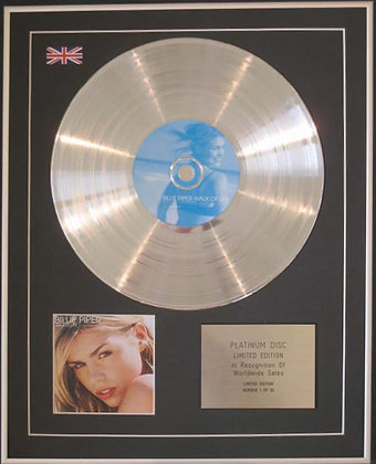BILLIE PIPER - CD Platinum Disc - WALK OF LIFE