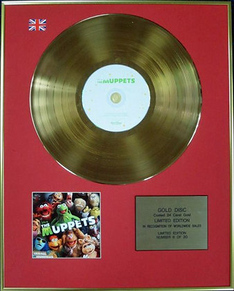 THE MUPPETS - Ltd Edition CD 24 Carat Coated Gold Disc - ORIGINAL SOUNDTRACK