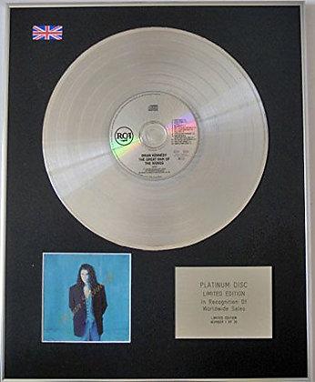 BRIAN KENNEDY - Ltd Edt CD Platinum Disc - THE GREAT WAR OF WORLDS
