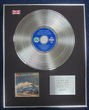 BLUR - Limited Edition CD Platinum LP Disc - MODERN LIFE IS RUBBISH