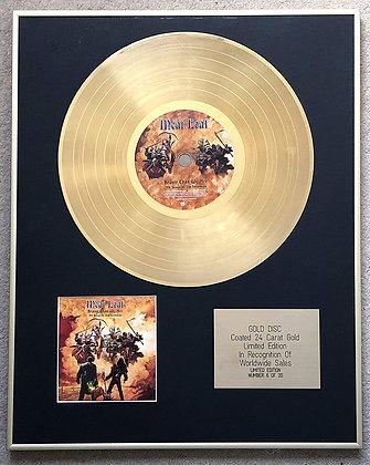 MEAT LOAF - Ltd Edition CD 24 Carat Gold Coated Disc - BRAVER THAN WE ARE