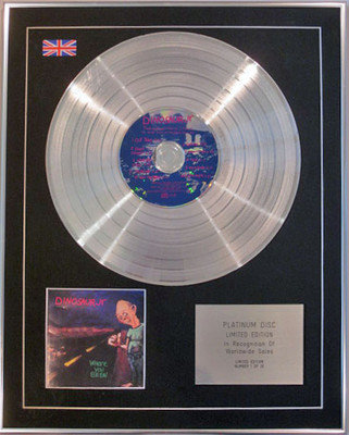 DINOSAUR JR - Limited Edition CD Platinum Disc -WHERE YOU BEEN