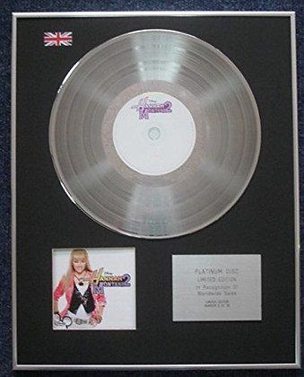 Hanna Montana - Limited Edition CD Platinum LP Disc - Disney Hanna Montana 2
