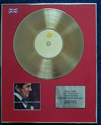 Perry Como - Limited Edition CD 24 Carat Gold Coated LP Disc - The Best