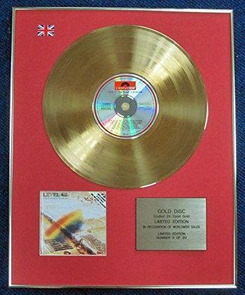 Level 42 - LTD Edition CD 24 Carat Gold Coated LP Disc - Pursuit of…