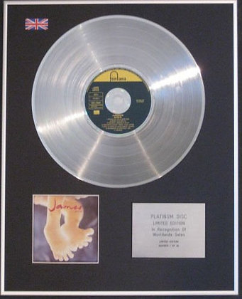 JAMES - CD Platinum Disc - SEVEN