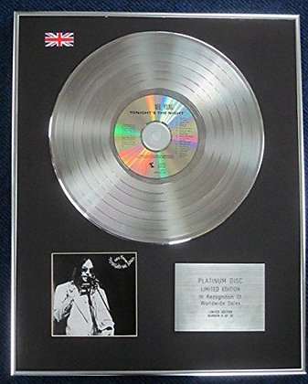 Neil Young - Limited Edition CD Platinum LP Disc - Tonight's the Night