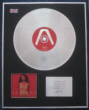 AALIYAH - Limited Edition CD Platinum LP Disc - 'AALIYAH'
