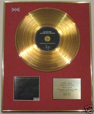 JAY-Z - Ltd Edtn 24 Carat CD Gold Disc - BLACK ALBUM