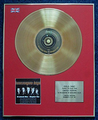 Backstreet Boys - CD 24 Carat Gold Coated LP Disc - The Hits 1