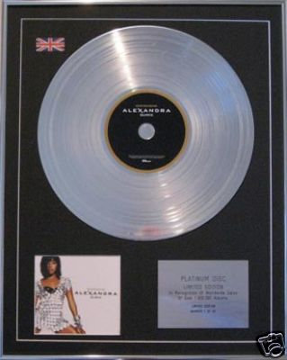 ALEXANDRA BURKE  CD Platinum Disc - OVERCOME