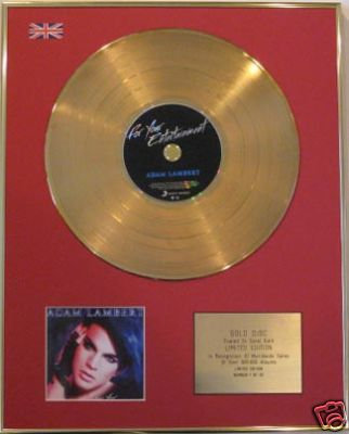 ADAM LAMBERT-Ltd Edt CD GoldDisc FOR YOUR ENTERTAINMENT