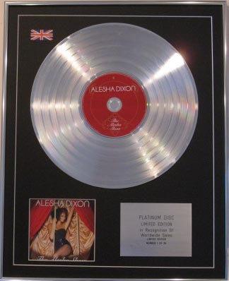 ALESHA DIXON  Ltd Edt CD Platinum Disc-THE ALESHA SHOW