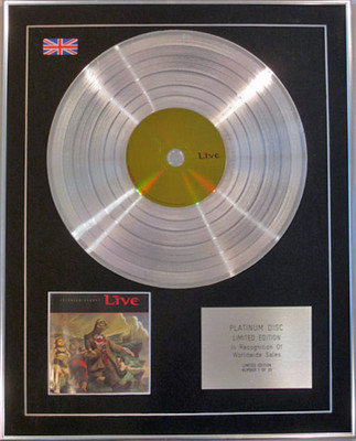LIVE - Limited Edition CD Platinum Disc -THROWING COPPER