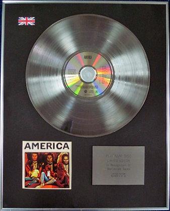 "AMERICA - Limited Edition CD Platinum Disc - ""AMERICA"""