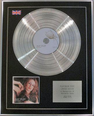 AMY STUDT - Limited Edition CD Platinum Disc - FALSE SMILES