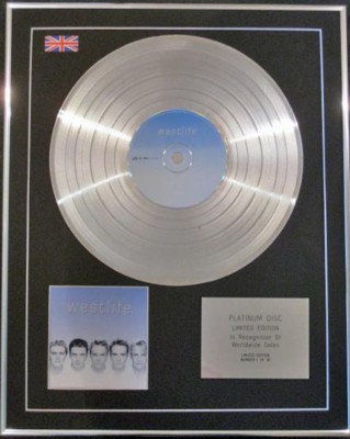 WESTLIFE CD Platinum Disc- WESTLIFE