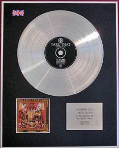 TAKE THAT- CD Platinum Disc - NOBODY ELSE