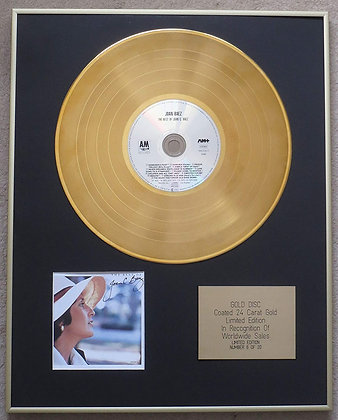 JOAN BAEZ - Exclusive Limited Edition 24 Carat Gold Disc - THE BEST OF