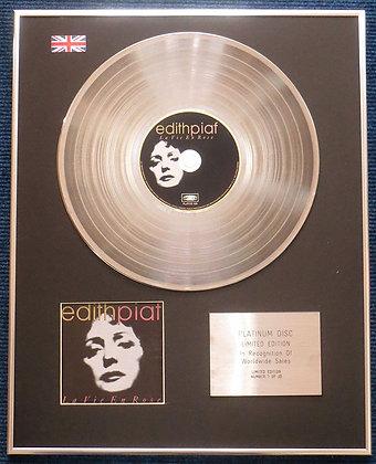 Edith Piaf - Limited Edition CD Platinum LP Disc -