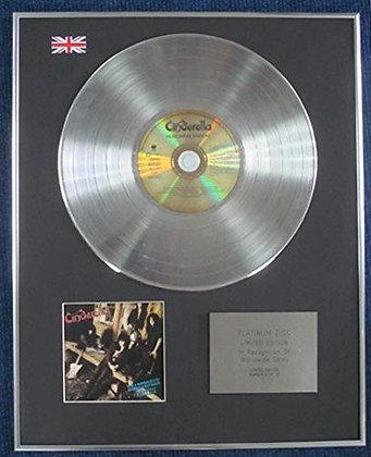 CINDERELLA - Limited Edition CD Platinum LP Disc - HEARTBREAK STATION