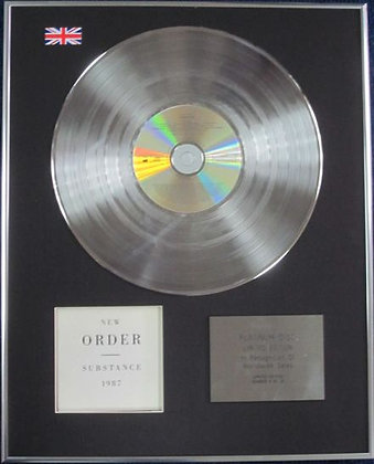 NEW ORDER - Limited Edition CD Platinum Disc - SUBSTANCE