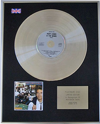 HUEY LEWIS AND THE NEWS - CD Platinum Disc - Sports