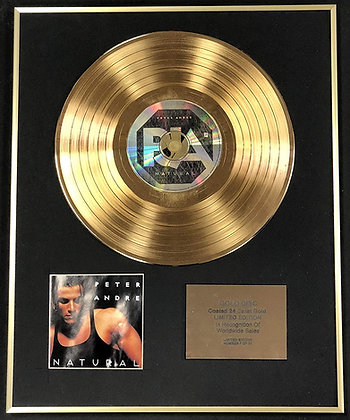 Peter Andre - Exclusive Limited Edition 24 Carat Gold Disc - Natural