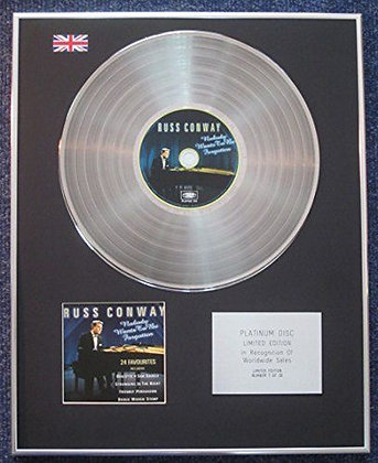 Russ Conway - Limited Edition CD Platinum LP Disc - 24 Favourites