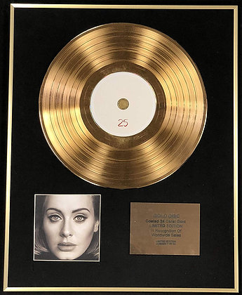 Adele - Exclusive Limited Edition 24 Carat Gold Disc -1 25