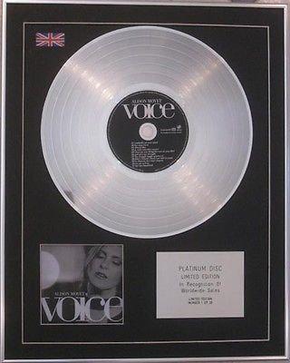 ALISON MOYET -  Limited Edition CD  Platinum Disc  -VOICE