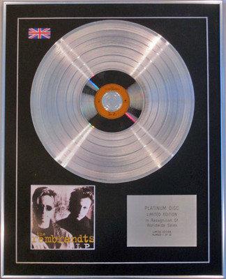 REMBRANDTS - Limited Edition CD Platinum Disc - THE REMBRANDTS LP