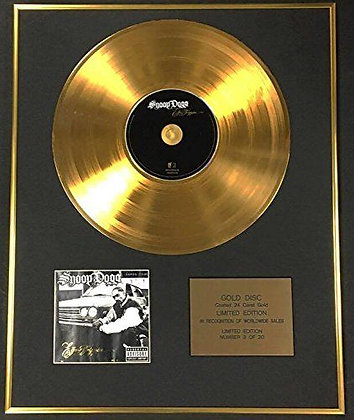 Snoop Dog - Exclusive Limited Edition 24 Carat Gold Disc - I Go Trippin