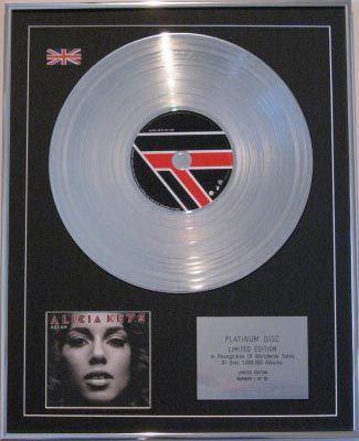 ALICIA KEYS - CD Platinum Disc - AS I AM