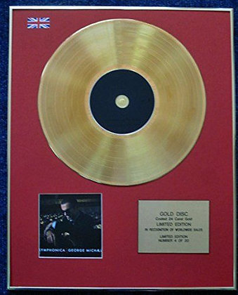 George Michael - Limited Edition CD 24 Carat Gold Coated LP Disc - Symphonica