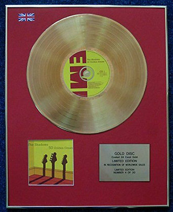 The Shadows - Limited Edition CD 24 Carat Gold Coated LP Disc - 50 Golden Greats