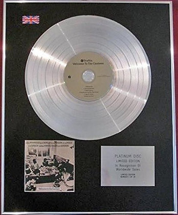 TRAFFIC - CD Platinum Disc - WELCOME TO THE CANTEEN