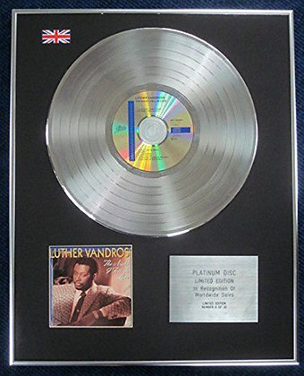 Luther Vandross - Limited Edition CD Platinum LP Disc - The Night I Fell in Love
