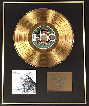 A-ha - Exclusive Limited Edition 24 Carat Gold Disc - Foot Of The Mountain
