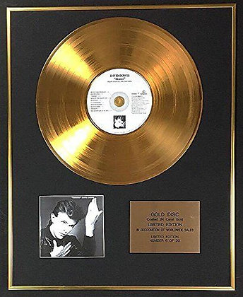 David Bowie - Exclusive Limited Edition 24 Carat Gold Disc - Hereos