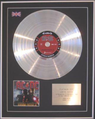 AC/DC - CD Platinum Disc - IRON MAN 2