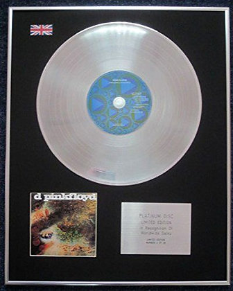 PINK FLOYD - Limited Edition CD Platinum LP Disc - A SAUCERFUL OF SECRETS