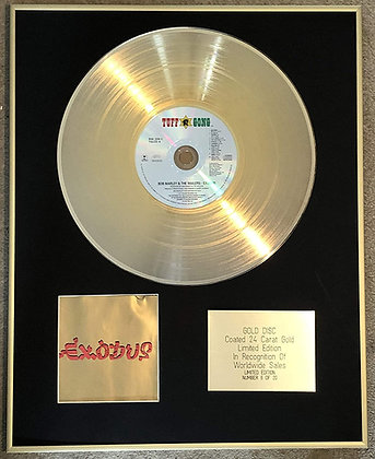 BOB MARLEY - Exclusive Limited Edition 24 Carat Gold Disc - EXODUS