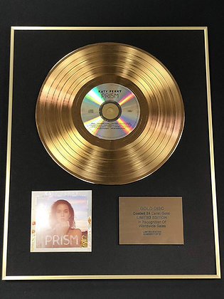 Katy Perry - Exclusive Limited Edition 24 Carat Gold Disc - Prism